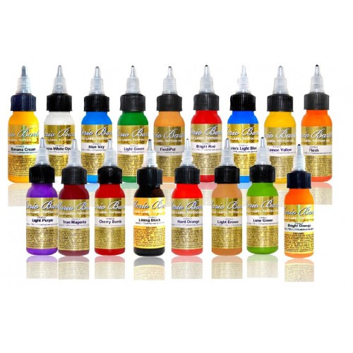 INTENZE Mario Barth Gold Label Tattoo Ink Set набор
