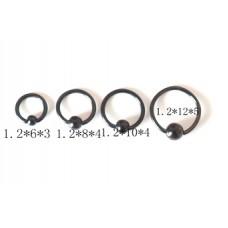 Кольцо для пирсинга малое черное