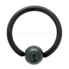Кольцо для пирсинга черное