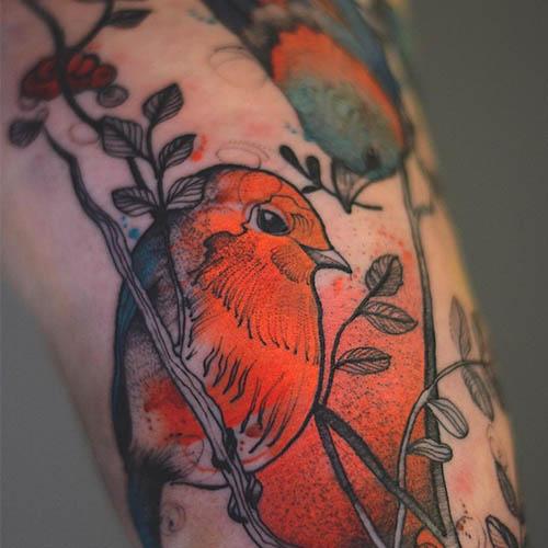 Яркие татуировки, созданные молодой художницей из Польши